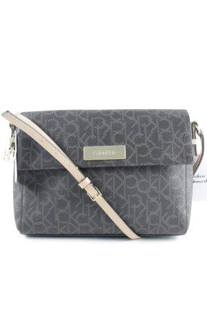 Calvin Klein Handtasche dunkelbraun-hellbraun klassischer Stil