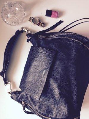 Calvin Klein Handtasche schwarz, echtleder