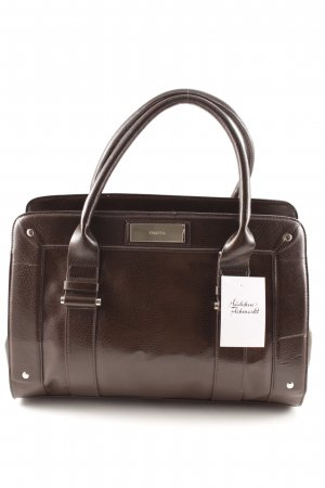 Calvin Klein Handtasche schwarzbraun Animal-Look