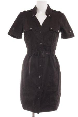Calvin Klein Hemdblusenkleid schwarz-silberfarben Casual-Look