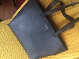 Calvin Klein Carry Bag black leather