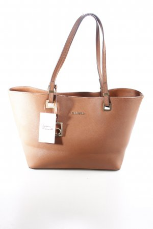 Calvin Klein Carry Bag cognac-coloured-light brown business style
