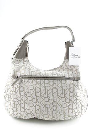 Calvin Klein Sac Baril gris-gris clair Motif de monogramme style décontracté