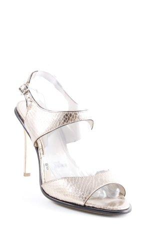 Calvin Klein High Heel Sandal rose-gold-coloured wet-look