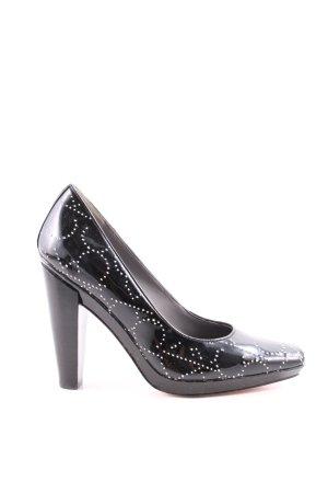 Calvin Klein High Heels schwarz-silberfarben Business-Look