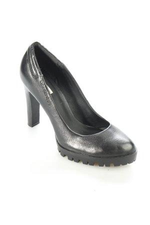Calvin Klein High Heels schwarz Leder-Optik