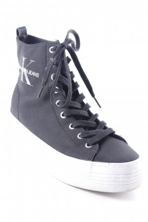 Calvin Klein High Top Sneaker schwarz Street-Fashion-Look