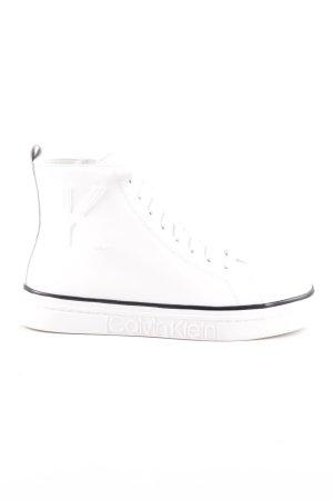 Calvin Klein Basket montante blanc-noir style décontracté
