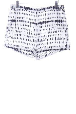 Calvin Klein High-Waist-Shorts weiß-schwarz abstraktes Muster Casual-Look