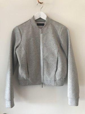 Calvin Klein Chaqueta corta gris claro-color plata
