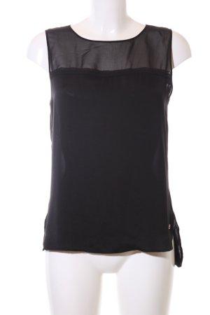 Calvin Klein Jeans ärmellose Bluse schwarz Elegant