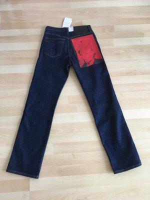 Calvin Klein Jeans Hoge taille jeans donkerblauw Katoen