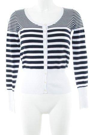 Calvin Klein Jeans Cardigan weiß-schwarz Streifenmuster klassischer Stil