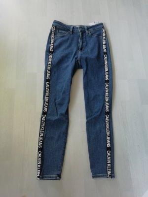 Calvin Klein Jeans CKJ010 High Rise Skinny Ankle Tape Roll Logo Stripe