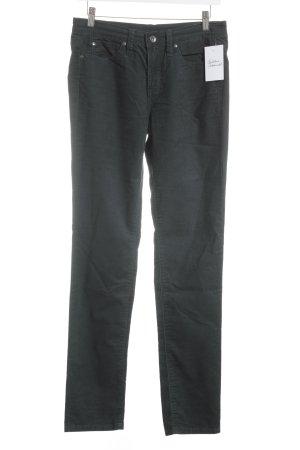 Calvin Klein Jeans Pantalone di velluto a coste verde scuro stile casual