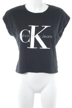 Calvin Klein Jeans Cropped Shirt Schriftzug gedruckt Street-Fashion-Look
