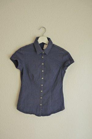 Calvin Klein Jeans Damenmode Bluse Shirt S 36 *NEU* blau weiß liniert Business Casual Basic Fashion Blogger