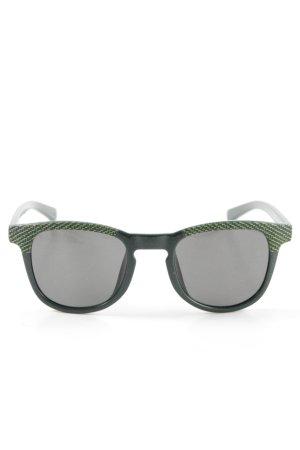 Calvin Klein Jeans eckige Sonnenbrille grün Allover-Druck Street-Fashion-Look