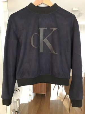 Calvin Klein Jeans Felpa blu scuro-nero