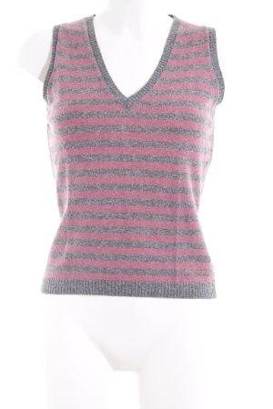 Calvin Klein Jeans Feinstrickpullunder grau-rosa Streifenmuster Casual-Look