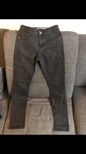 Calvin Klein Jeans pantalón de cintura baja negro