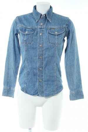 Calvin Klein Jeans Jeanshemd kornblumenblau Casual-Look