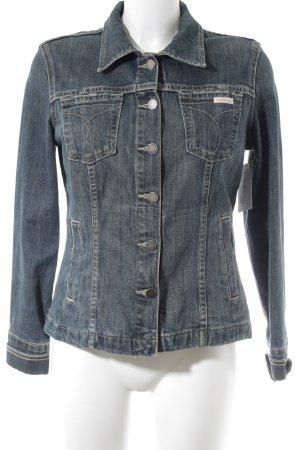 Calvin Klein Jeans Jeansjacke kornblumenblau-graugrün Jeans-Optik