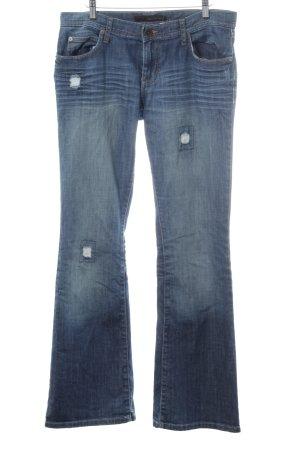 Calvin Klein Jeans Jeans flare bleu foncé style déchiré