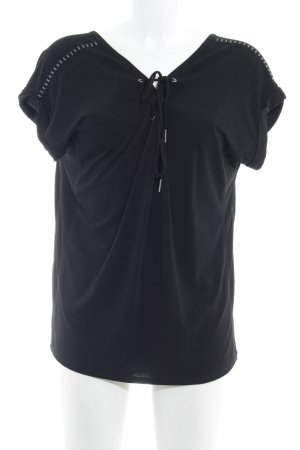Calvin Klein Jeans Kurzarm-Bluse schwarz Casual-Look
