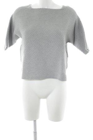 Calvin Klein Jeans Kurzarmpullover hellgrau grafisches Muster Casual-Look