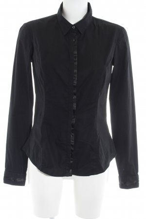 Calvin Klein Jeans Langarm-Bluse schwarz Business-Look