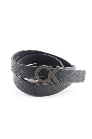 Calvin Klein Jeans Cintura in ecopelle nero stile classico