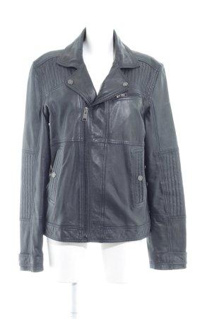 Calvin Klein Jeans Lederjacke anthrazit Biker-Look
