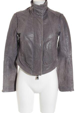 Calvin Klein Jeans Lederjacke grau-graublau Casual-Look