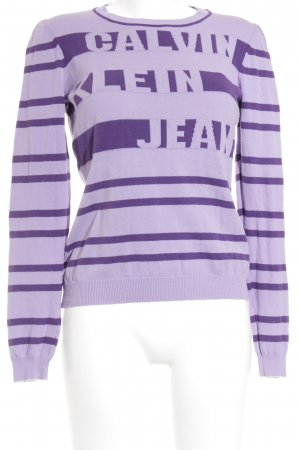 Calvin Klein Jeans Longpullover helllila-dunkelviolett Casual-Look