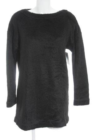 Calvin Klein Jeans Longpullover schwarz Kuschel-Optik