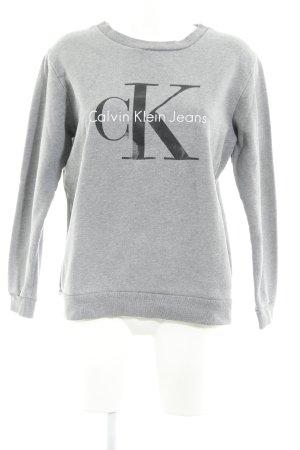 Calvin Klein Jeans Longpullover silberfarben Casual-Look