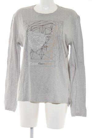 Calvin Klein Jeans Longsleeve hellgrau Motivdruck Casual-Look