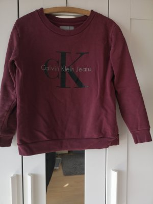 Calvin Klein Jeans Pulli Pullover rot XS
