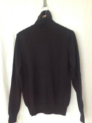 Calvin Klein Jersey de cuello alto negro Lana