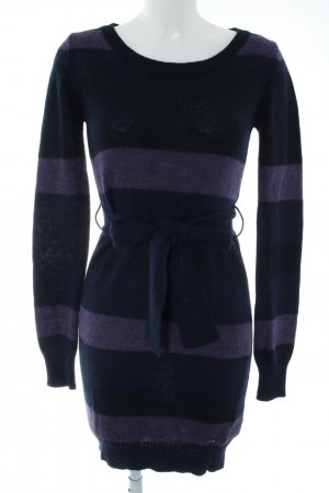 Calvin Klein Jeans Sweater Dress blackberry-red-dark blue striped pattern