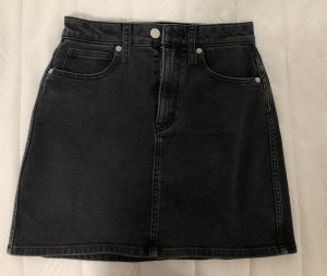 Calvin Klein Denim Skirt black-anthracite