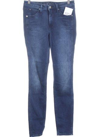 Calvin Klein Jeans Röhrenjeans blau-kornblumenblau Washed-Optik