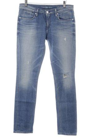 Calvin Klein Jeans Röhrenjeans kornblumenblau-himmelblau Casual-Look