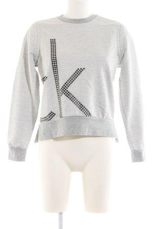 Calvin Klein Jeans Rundhalspullover hellgrau Casual-Look