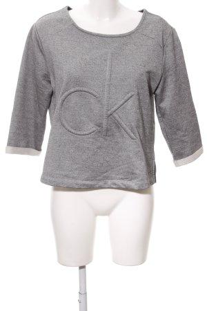 Calvin Klein Jeans Rundhalspullover grau Casual-Look
