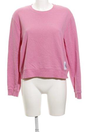 Calvin Klein Jeans Rundhalspullover pink schlichter Stil