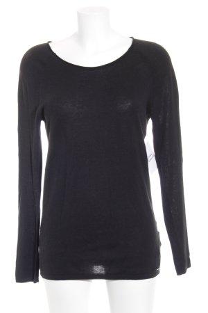 Calvin Klein Jeans Rundhalspullover schwarz schlichter Stil