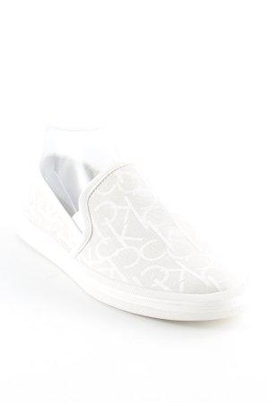 Calvin Klein Jeans Schlüpfsneaker hellbeige-weiß Monogram-Muster Casual-Look