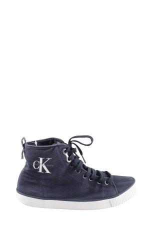 Calvin Klein Jeans Schnürsneaker blau Casual-Look